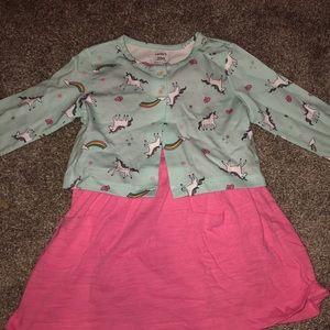 Carter's unicorn dress set